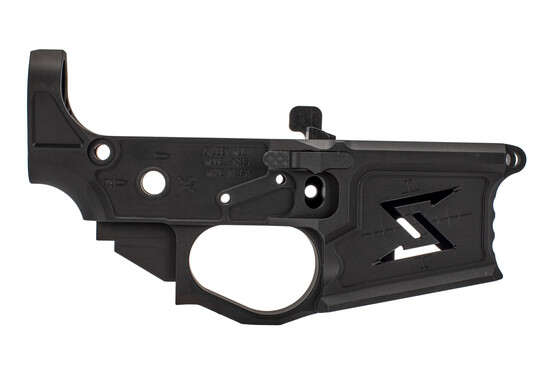 Seekins Precision billet NX15 lower receiver is skeletonized with ambidextrous bolt release