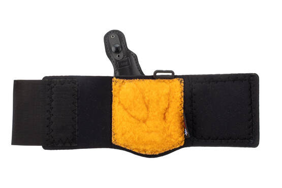 DeSantis Die Hard Ankle Rig Holster for Glock 43/43X has a padded foam and lined leg band