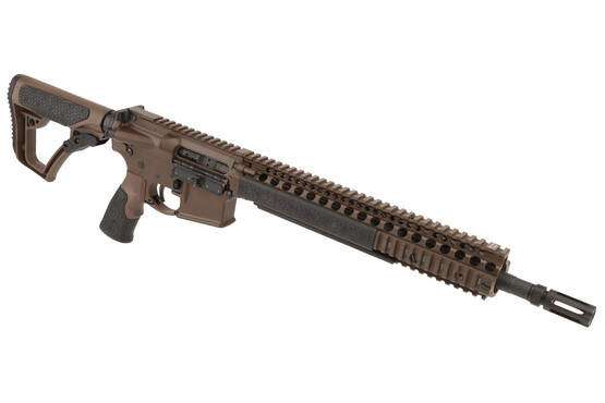 The Daniel Defense 14.5in 5.56 M4A1 Rifle with 12.25in M4A1 RIS II and Pinned Flash Suppressor has a mil-spec cerakote finish
