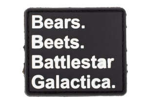 Violent Little Machine Shop Bears Beets Battlestar Galactica PVC Morale Patch