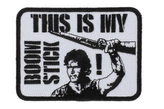 Violent Little Machine Shop This Is My Boomstick Morale Patch features an embroidered design