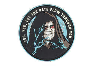 Violent Little Machine Shop Yes, Yes Let the Hate Flow Through You Patch with 3D PVC design