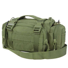 Condor Deployment Bag in OD Green features a sturdy web carrying handle