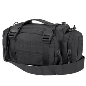 Condor Deployment Bag in Black features a sturdy web carrying handle