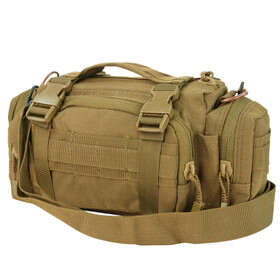 Condor Deployment Bag in Coyote Brown features a sturdy web carrying handle