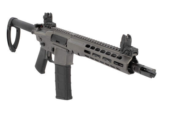 Barret REC7 DI AR pistol features a 10 inch barrel and aftermarket accessories