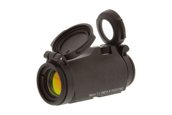 Aimpoint T-2 micro red dot sight is compatible with all standard T1/H1 type mounts.