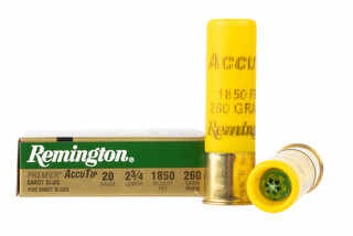 Remington AccuTip Sabot Slug is for 20 Gauge shotguns
