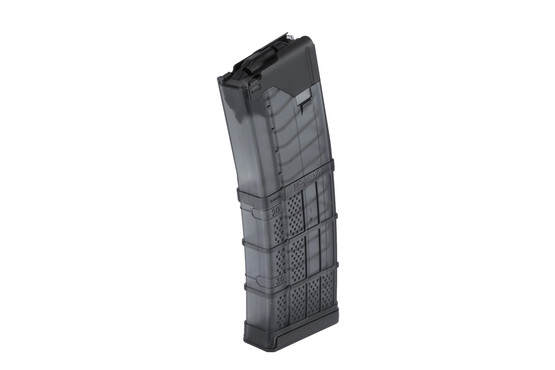 The Lancer Systems L5AWM 30 Round Translucent AR15 Magazine for 5.56 NATO and .223 remington has steel reinforced feed lips