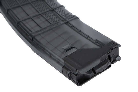 The L5AWM AR 15 Magazine for 5 56 NATO and 223 rem from lancer systems with 30 round capacity and clear polymer with texture
