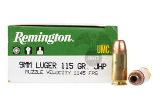 Remington UMC 9mm Hollow Point Ammo features a 115 grain bullet
