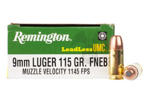 Remington 9mm flat nose ammo features a 115 grain bullet