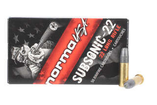 Norma 22lr subsonic rimfire ammunition comes in a box of 50