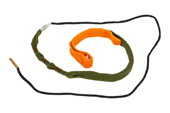 Hoppe's BoreSnake Viper Den .357 / 9mm Caliber Pistol bore cleaner features dual brass brushes and a caliber marked carrier.