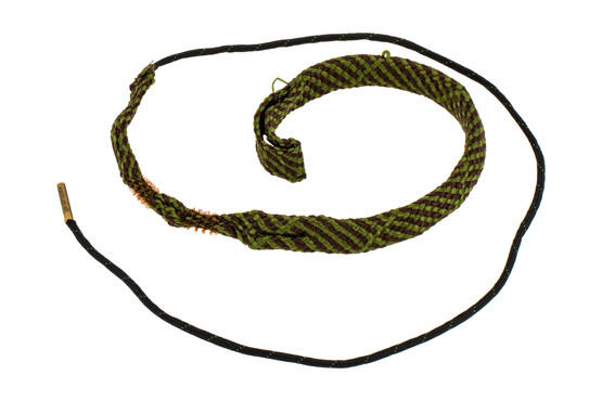 Hoppe's BoreSnake Den .44 - .45 Caliber Pistol bore cleaner features dual brass brushes and a caliber marked carrier.
