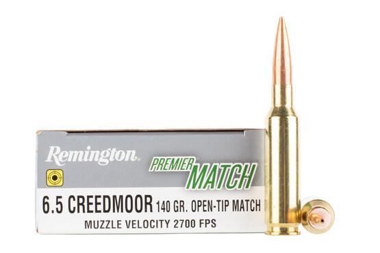 Remington Premier Match 6.5 Creedmoor ammo features an open tip match bullet