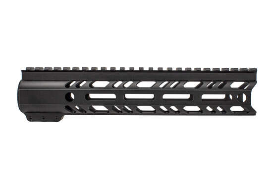 "2A Armament 10"" builders series black AR-15 rail features M-LOK slots and integarted QD sling swivel sockets."