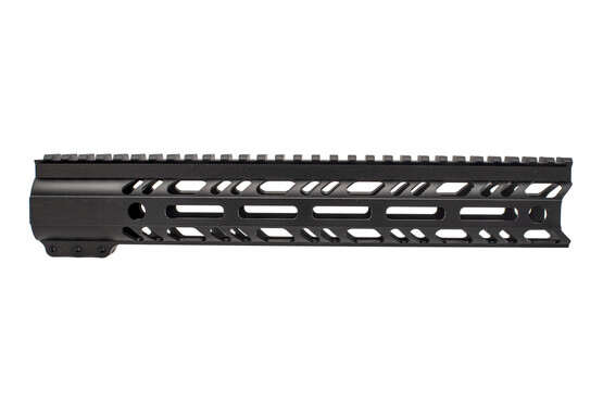 "2A Armament 12"" builders series black AR-15 rail features M-LOK slots and integarted QD sling swivel sockets."