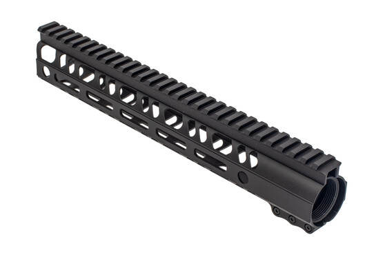 2A armament builders series AR15 handguard with M-LOK slots, black finish, and redesigned barrel nut
