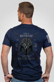 Nine Line Apparel My Religion short sleeve tshirt in navy