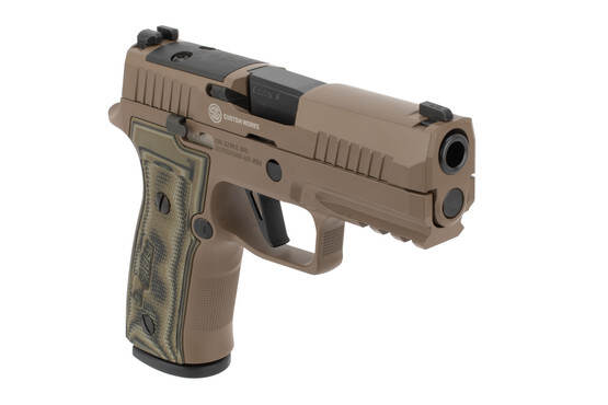 9mm P320 AXG Scorpion Pistol from SIG Sauer features a textured AXG metal grip