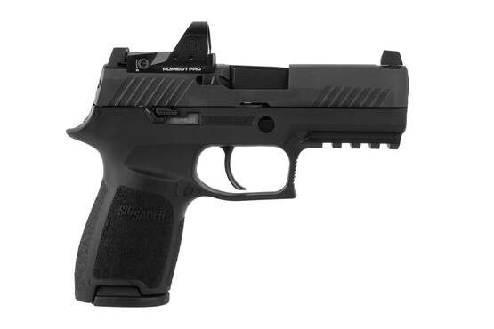 SIG Sauer P320 RXp Compact 9mm pistol comes with a romeo1 pro red dot sight