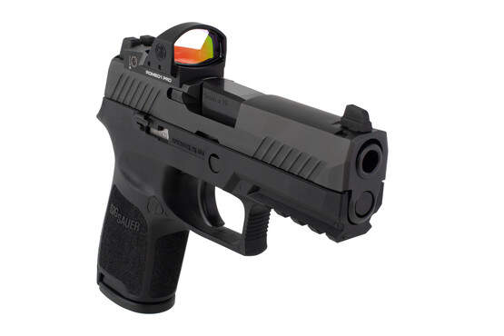 SIG Sauer P320C Compact RXP 9mm pistol features suppressor height sights