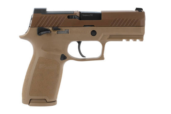 SIG Sauer P320 M18 9mm Optics Ready Pistol in Coyote Brown