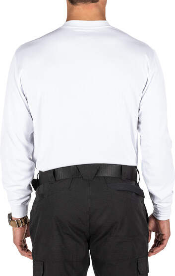 5.11 Tactical Performance Utili-T 2-Pack Long Sleeve Shirt in white with polyester jersey material
