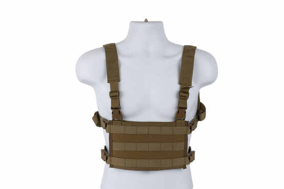High Speed Gear coyote light chest rig is a lightweight but highly functional MOLLE platform