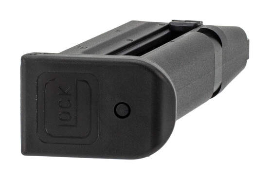 Glock G44 magazine with easy-to-disassemble base plate and easy loading thumb-tabs holds 10 rounds of .22 LR.