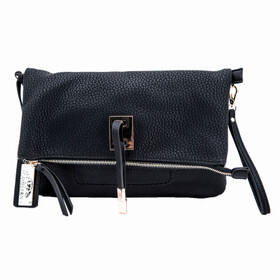 Cameleon Bags Aya Concealed Carry Purse in Black has a decorative metal plate
