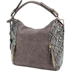 Cameleon Bags Reptic Concealed Carry Purse in Grey has a reinforced handle