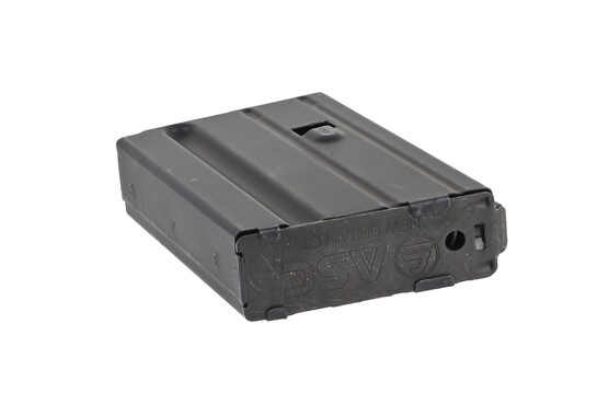The ASC AR mag 6.8 SPC 5 round capacity has a removable base plate for maintenance