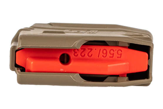 Amend2 20 round fde magazine mod 2 features a bright red follower