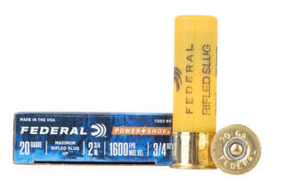 Federal Power Shok 20 Gauge slugs