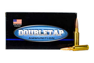 Doubletap 6.5 creedmoor ammo features a hollow point boat tail