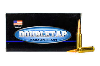 Doubletap ammunition 6.5 creedmoor is loaded with 150 grain hollow point boat tail