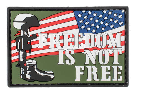 5ive Star Gear Freedom Is Not Free Morale Patch is made of PVC material
