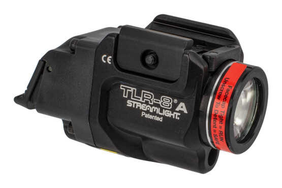 Streamlight TLR-8A weapon light 500 Lumens features a red laser