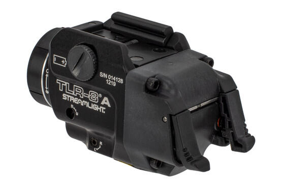 Streamlight TLR-8A pistol light with laser features a compact aluminum chassis