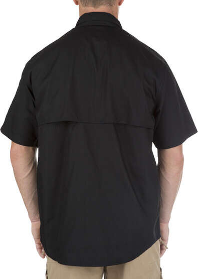 5.11 Tactical TACLITE Pro Short Sleeve Shirt in black, rear view