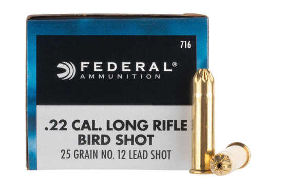 Federal GameShok 22lr ammo is loaded with #12 birdshot