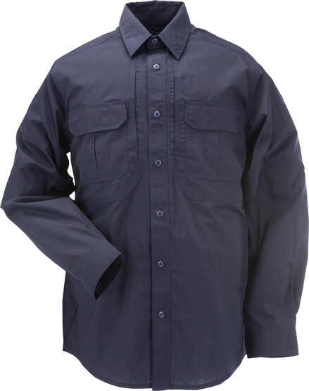 5.11 Tactical TACLITE Pro Long Sleeve Shirt in dark navy, front view