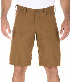 "5.11 Tactical Apex Short - 11"" in battle brown, front view"