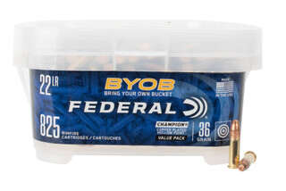 Federal Premium 22lr rimfire ammo features a copper plated hollow point