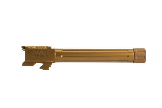 CMC Glock 17 9mm fluted threaded barrel is a match grade handgun barrel with super slick and tough bronze finish
