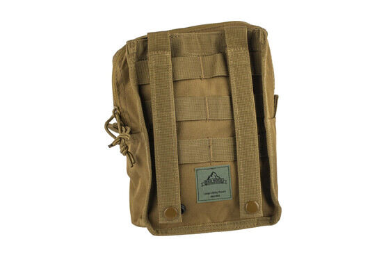 The Red Rock Outdoor Large Utility Pouch is made from coyote brown Nylon