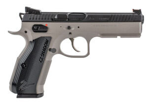 CZ 75 Shadow 2 9mm pistol with Urban Grey Cerakote frame and black slide