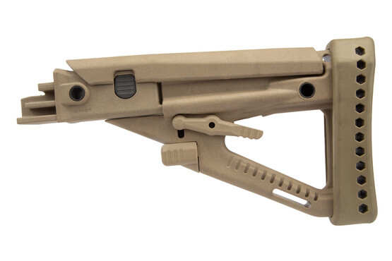 ProMag desert tan polymer OPFOR buttstock is compatible with most Aks on the market and made in the USA.